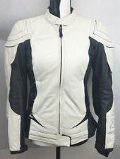 "Scorpion Exo ""Get Stung"" White Leather Riding Motorcycle Jacket Size: Medium"