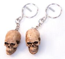 Skull Keyring Keychain Figure Hunman Bonehead collectible Biker ring handmade 2x