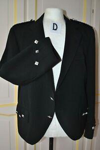 Black  Argyll Kilt Jacket   46 ins.