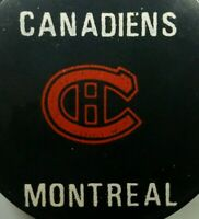 VINTAGE NHL MONTREAL CANADIENS EXTREMELY RARE MADE IN CZECHOSLOVAKIA HOCKEY PUCK