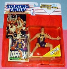 1993 John Stockton Utah Jazz #12 Hof Starting Lineup + Stadium Club bonus card