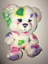 "Build A Bear Smallfrys White Heart Bear 7"" Plush Stuffed Animal"