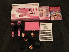 König HAV-KM10P Karaoke Mixer Inkl. 2x Mikrofon pink 2DVD Barbie und karaoke kid