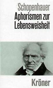 Aphorismen zur Lebensweisheit von Schopenhauer, Arthur   Buch   Zustand sehr gut