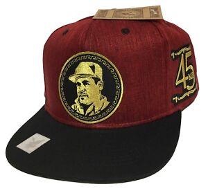 El Chapo Guzman Y Su 45 All Gold 2 Logos Mexico Sinaloa Hat Maroon Black