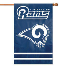 LOS ANGELES RAMS HOUSE FLAG APPLIQUE EMBROIDERED 2 SIDED OVERSIZED OUTDOOR
