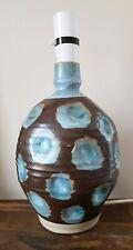 vintage studio pottery lamp base impressed mark .Marianne de Trey???