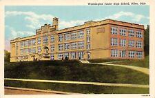 Niles Ohio 1930-40s Postcard Washington Junior High Trumble County