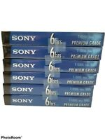 Sony T120VL(Lot of 6)6hrs Premium Grade Blank VHS Video Tapes - NEW SEALED!