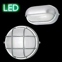 Kellerlampe Wandlampe außen IP54 silber Alu oval rund LED Schildkröte Leuchte