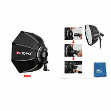 Triopo 90cm 35.4in Portable Speedlite Octagon Softbox w Flash Bracket for Godox
