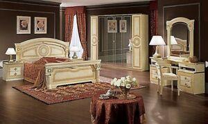 Neues Luxus Schlafzimmer Aida Beige, Weiß-Silber - keine Anzahlung - kein Risiko
