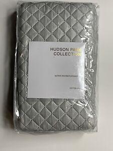 Hudson Park Collection Cotton & Silk Quilted Standard Sham SILVER $160