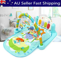 3 in 1 Rainforest Lullaby Baby Playmat Musical Piano Activity Mat Cushion Toy AU