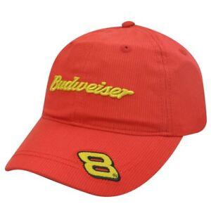 HAT CAP BUDWEISER DALE EARNHARDT JR 8 NASCAR BEER RACE RACING CHASE INDIE RED