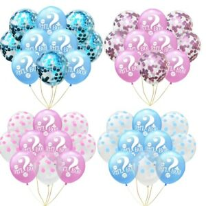"""12"""" Gender Reveal Unisex Girl Or Boy Party Decorations Latex Confetti Balloons"""