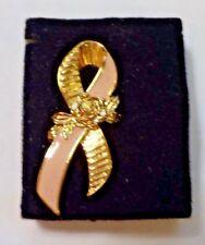 1993 Avon Better Breast Care Ribbon Pin - Large - In Original Packaging
