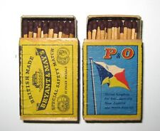 """Lot of 2 Vintage Bryant & May's Special Safety Match""""Matchbox with Orig. Matches"""