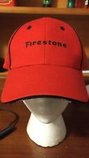 New FIRESTONE Tire  ADVERTISING Red hat with   Velcro ADJUSTABLE  strap