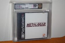Metal Gear Solid (PS1 PSX Playstation) NEW SEALED BLACK LABEL, MINT GOLD VGA 90+