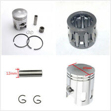 Motorcycle ATV Replacement 47mm Diameter Piston & Ring 12mm Pin Set Kit For 80cc