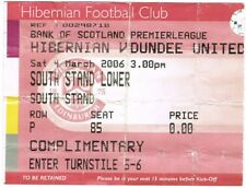 Ticket - Hibernian v Dundee United 04.03.06