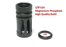 5/8 x24 Thread Bird Cage Muzzle Brake for 308 .308, FREE Crush Washer