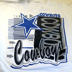 Vintage Dallas Cowboys Magic Johnson T'S T Shirt Size Adult XL 1992 Team NFL