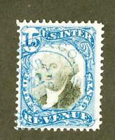 US Stamps # R110 15c Revenue FVF Sound Scott Value $85.00