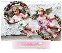 CHERUB ANGELS Toddler 3D Cottage Wall Decor GIFT Sansco 1995 Collectible Nursery