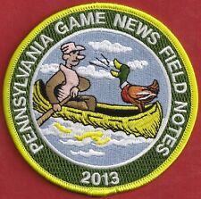 """Pa Pennsylvania Game Commission NEW 4"""" 2013 Pa Game News / Field Notes Patch"""