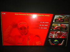 Hotwheels Ferrari F1 Felipe Massa Three Consecutive Win 1/18 Limited Edition