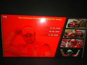 Hotwheels Ferrari F1 Felipe Massa Tre Consecutivo Win 1/18 Edizione Limitata