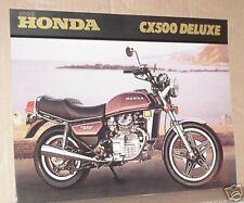 1980 Honda CX500 Deluxe Motorcycle Sales Brochure - Literature