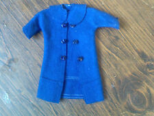 BARBIE'S ROYAL BLUE WOOL COAT EXPERTLY MADE, LARGE COLLAR.DOUBLE ROW OF BUTTONS