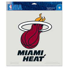 """MIAMI HEAT LOGO 8""""X8"""" COLOR DIE CUT DECAL BRAND NEW FREE SHIPPING WINCRAFT"""