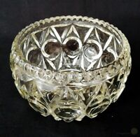 Vintage Pressed Glass Raised Coin Dot Bowl 14cm Wide | FREE Delivery UK*