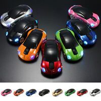Wireless Mouse Optical For PC Laptop Computer 2.4GHz 3D Car Shape Gamers Mice UK