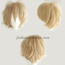 Unisex Hinata Cosplay Hair Wig Short Anime Party Fancy Style Full Wigs Yellow US