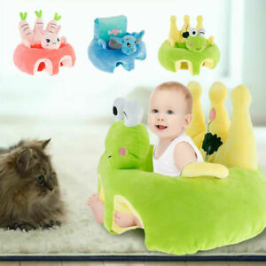 Kids Baby Support Seat Sit Up Cushion Cover Plush Pillow Chair Case (Cover Only)