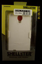 Amzer Shellster Shell Holster Case Cover Samsung Galaxy S IV GT-I9500-White