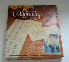 vintage Sheaffer calligaphy instruction booklet nibs and ink