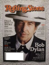 ROLLING STONE  MAGAZINE SEPTEMBER 27  2012 ISSUE#1166 BOB DYLAN HIS INTERVIEW