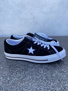 Converse One Star OX Black & White Mens Size 9, Womens 11 158369C