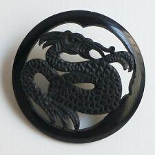 Bouton ancien - Parurier - Galalithe - 44 mm - Vintage Button