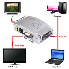 PC VGA to AV RCA TV Monitor S-video Signal Adapter Converter Switch Box IT