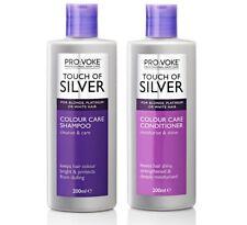 DUO Provoke Touch Of Silver Silver Colour Care SHAMPOO 200ml + CONDITIONER 200ml