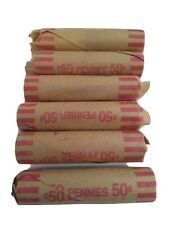 6 Rolls Of Canadian Pennies Penny Average Circulated Condition Mixed Dates