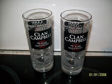 2 VERRES WHISKY CLAN CAMPBELL PUBLICITE  0,2L NEW 2 DRINKS ADVERTISING ALCOOL