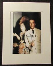 """CHRISTOPHER LEE Signed Autograph 8x10 Photo w/ COA VG 4.0 Matted 11x14"""""""